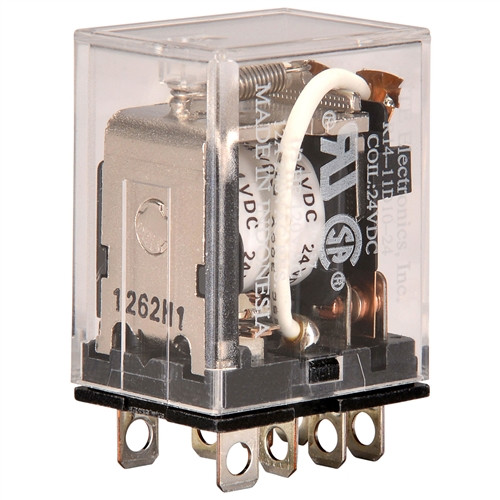 RELAY-24VDC 10AMP DPDT WITH PLUG-IN/SOLDER TERMINALS (R14-11D10-24)