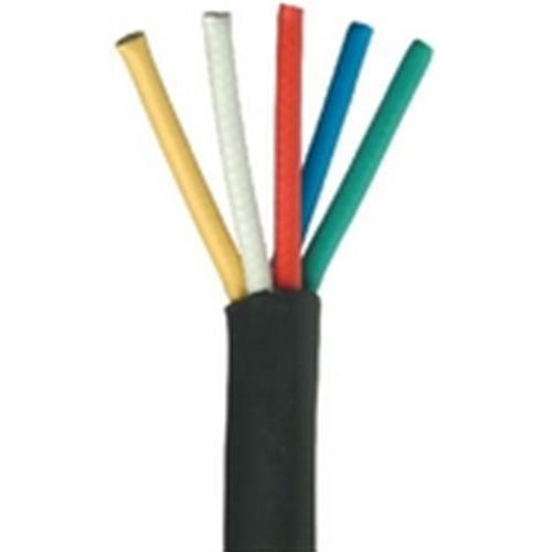 5 Conductor/Mini RG59/U 25 AWG Solid Bare Copper RGB Component Video Cable - Black (RGB-5)