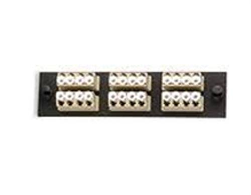 UFE-B-12LC 24 Fiber (6 Quad) LC MM Adapter Plate (UFE-B-12LC)