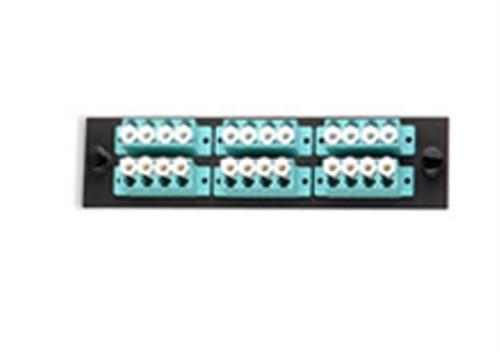 UFE-B-12LC-G 24 Fiber (6 Quad) LC MM 10G Adapter Plate Aqua (UFE-B-12LC-G)