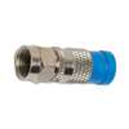 F Male; Compression; RG-6 Quad; Nickel (COM-1016)