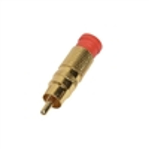 RCA Male; Compression Connector; RG59; Gold (COM-3059)
