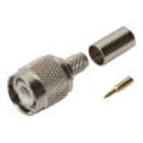 SMA Female Connector; 3 Piece; Crimp; RG58 (CSM-3212)