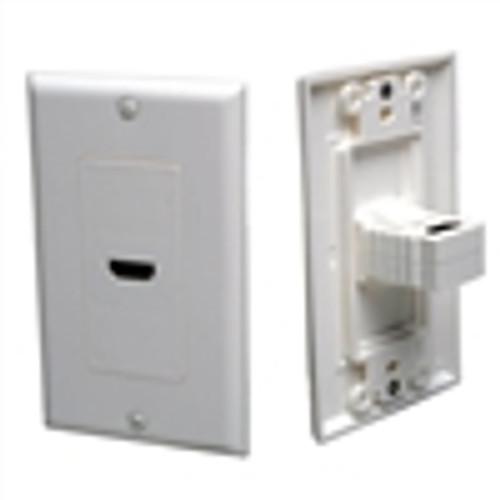 HDMI Single Wallplate; 90 Degree - White (HDI-9401)