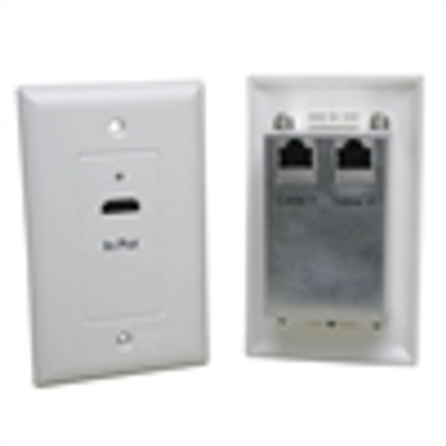 HDMI-OVER CAT5E WALL PLATE EXTENDER KIT; WHITE (HDI-9450)