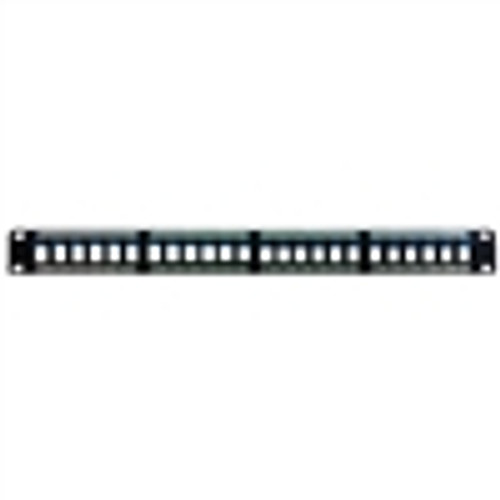 """KEYSTONE HD PATCH PANEL, UNLOADED, 24 PORT, 1U, BLACK"" (NBP-2224)"