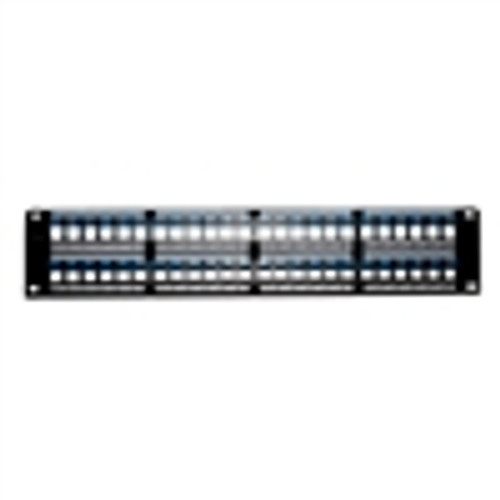 """KEYSTONE HD PATCH PANEL, UNLOADED, 48 PORT, 2U, BLACK"" (NBP-2248)"