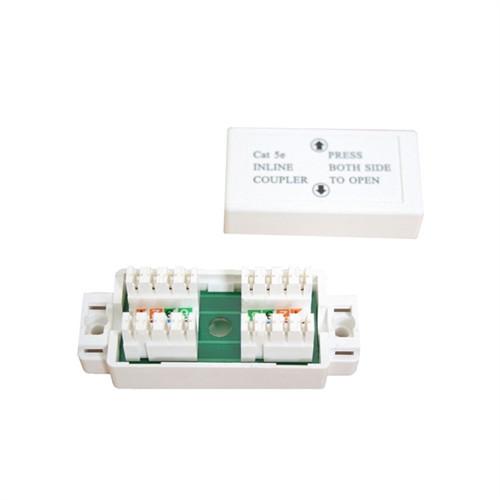 """ADAPTER, CAT5E INLINE UTP 110IDC CONJUNCTION BOX, WHITE"" (NCB-5008)"