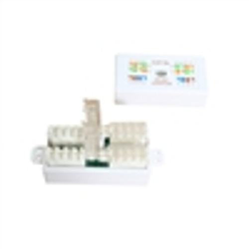 """ADAPTER, CAT5E TOOLESS INLINE UTP 110IDC CONJUNCTION BOX, WHITE"" (NCB-5018)"