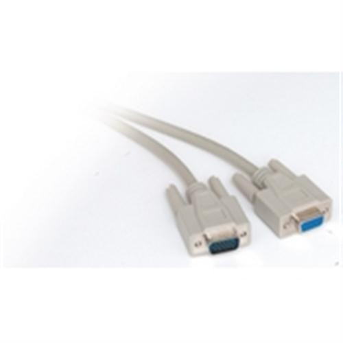 SVGA Monitor Extension Cable; HD15 Male to Female; 10 Feet (NCC-9010)