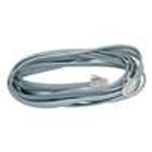SILVER Satin Modular Cord; 4 Conductor; RJ11; Cross-Wired; 7 Feet (NCO-4107)