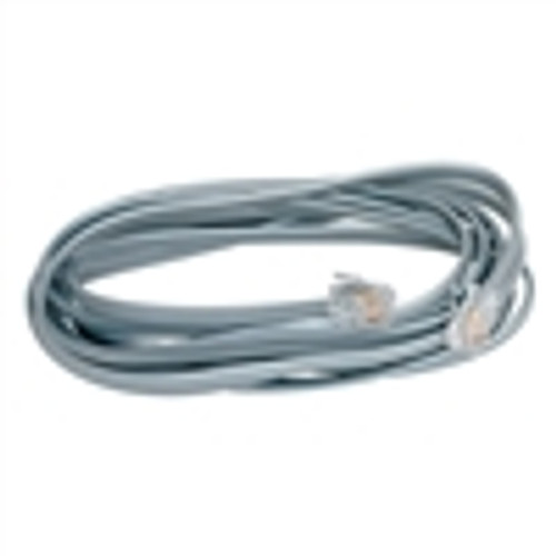 SILVER Satin Modular Cord; 4 Conductor; RJ11; Cross-Wired; 25 Feet (NCO-4125)