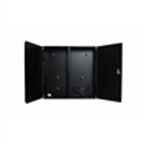 Fiber Box; Wall Mount; 2-Slot with Splice Trays and Locking Doors - Black (NFO-4002)
