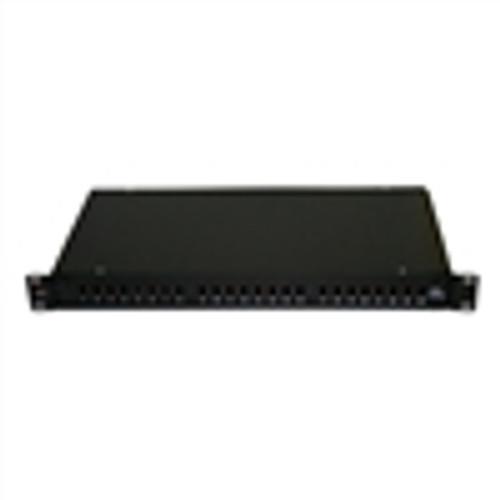Fiber Box; Rack Mount; 24 Port; ST/FC; Unloaded (Splice Trays Included) - Black (NFO-5024)