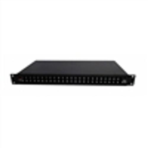 Fiber Box; Rack Mount; 24 Port; SC; Unloaded (Splice Trays Included) - Black (NFO-5124)