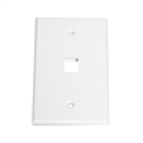 """OVERSIZED KEYSTONE WALL PLATE, 1-PORT, WHITE"" (NFP-5018)"