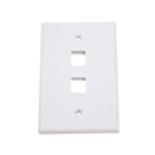 """OVERSIZED KEYSTONE WALL PLATE, 2-PORT, WHITE"" (NFP-5028)"
