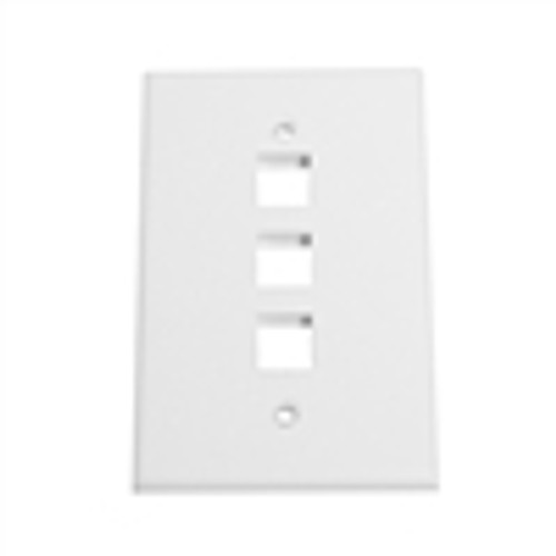 """OVERSIZED KEYSTONE WALL PLATE, 3-PORT, WHITE"" (NFP-5038)"