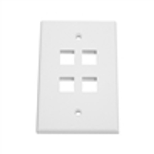 """OVERSIZED KEYSTONE WALL PLATE, 4-PORT, WHITE"" (NFP-5048)"