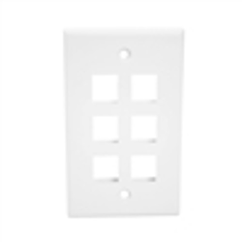 """OVERSIZED KEYSTONE WALL PLATE, 5-PORT, WHITE"" (NFP-5068)"