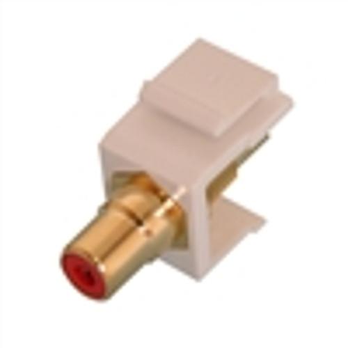 """RCA KEYSTONE MODULE, GOLD W/RED INSERT, WHITE"" (NIN-1401)"