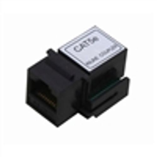 Adapter; CAT5E Inline Keystone Coupler; 8P8C; Black (NKJ-5002)