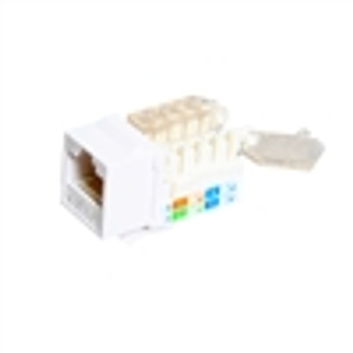 """CAT5E TOOLESS KEYSTONE JACKS, 8P8C, WHITE, UL"" (NKJ-5408)"