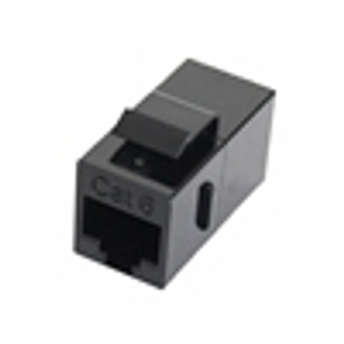 """CAT6 IN LINE KEYSTONE COUPLER, BLACK"" (NKJ-6002)"