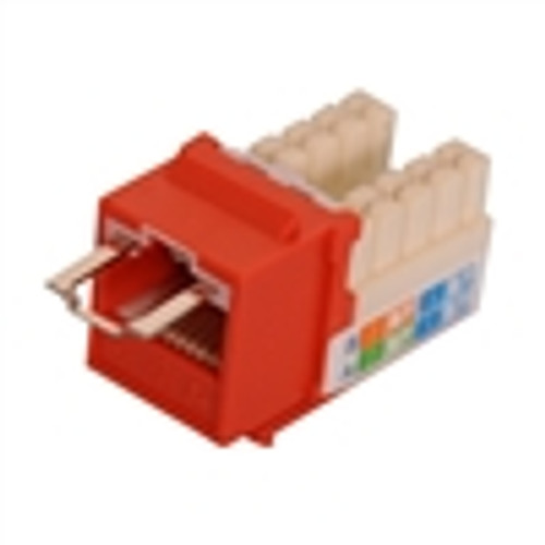 """CAT5E LOCJACK KEYSTONE JACKS, 8P8C, ORANGE, UL"" (NLJ-5504)"