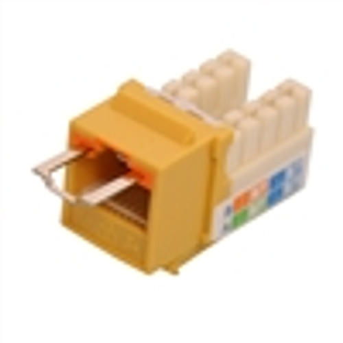 """CAT5E LOCJACK KEYSTONE JACKS, 8P8C, YELLOW, UL"" (NLJ-5505)"