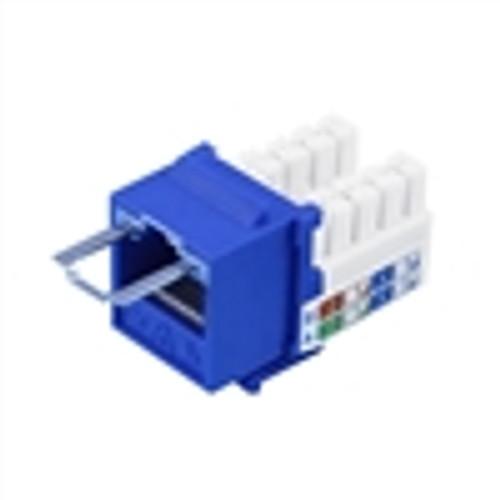 """""""CAT6 LOCJACK KEYSTONE JACKS, 8P8C, BLUE, UL"""" (NLJ-6502)"""