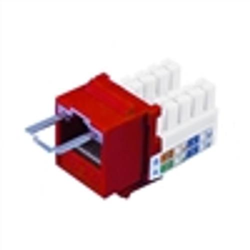 """""""CAT6 LOCJACK KEYSTONE JACKS, 8P8C, RED, UL"""" (NLJ-6503)"""