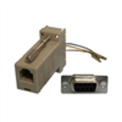 Modular Adapter; DB9(F) to RJ12; 6P6C; GRAY (NMA-6209)