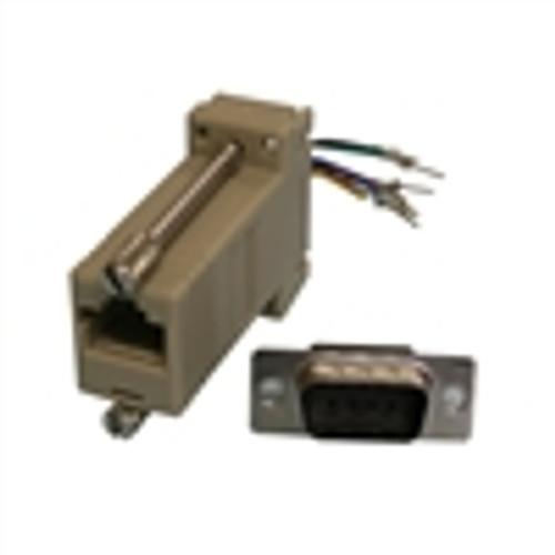 Modular Adapter; DB9(M) to RJ45; 8P8C; GRAY (NMA-8109)