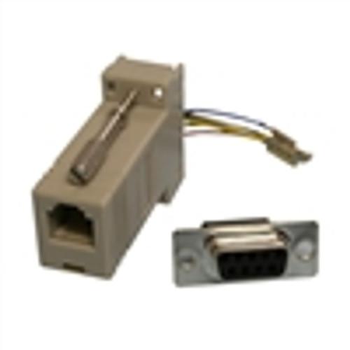 Modular Adapter; DB9(F) to RJ45; 8P8C; GRAY (NMA-8209)