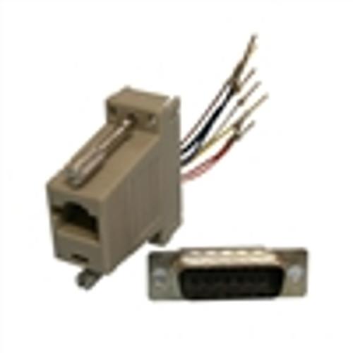Modular Adapter; DB15(M) to RJ45; 8P8C; GRAY (NMA-8309)