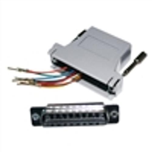 Modular Adapter; DB25(M) to RJ45; 8P8C; GRAY (NMA-8509)