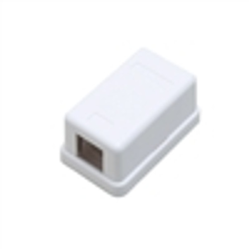 Surface Mount Box; 1 Port; Unloaded - White (NSB-5210)