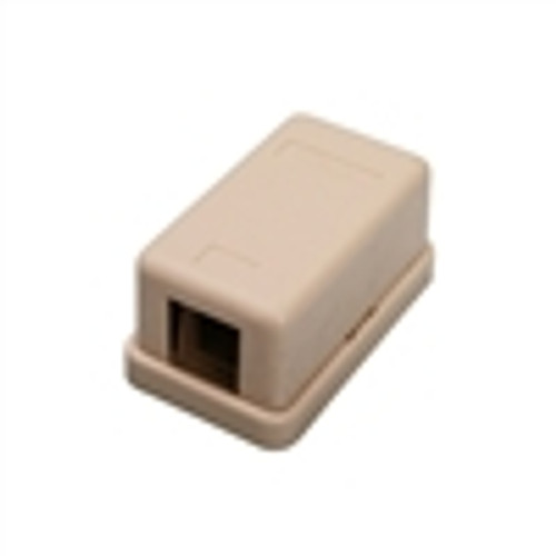 Surface Mount Box; 1 Port; Unloaded - Ivory (NSB-5211)