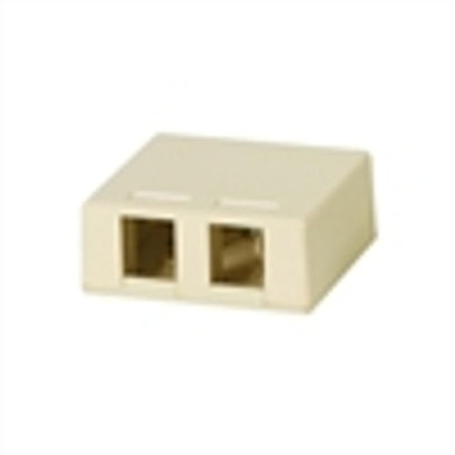 Surface Mount Box; 2 Port; Unloaded - Ivory (NSB-5221)