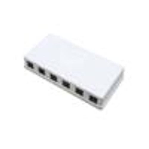 Surface Mount Box; 4 Port; Unloaded - Ivory (NSB-5241)