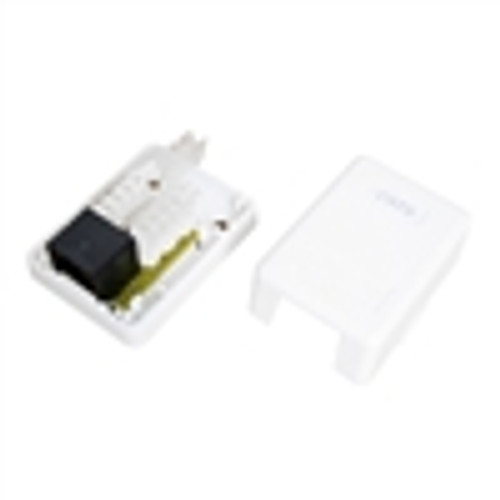 """CAT5E TOOLESS SMB, SINGLE RJ45, 8P8C, 110IDC, 568A/B, WHITE"" (NSB-5420)"