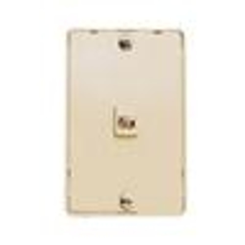 Wall Plate; Kitchen Mount; Single Rj11; 6 Position; 4 Conductor; Standard Finish - Ivory (NTP-4401)