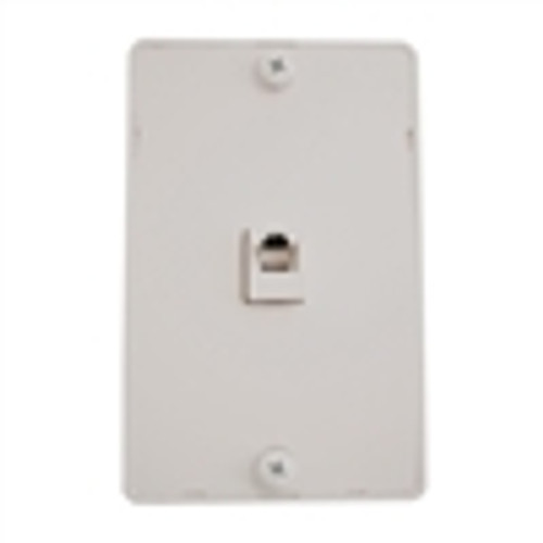 Wall Plate; Kitchen Mount; Single Rj11; 6 Position; 4 Conductor; Standard Finish - White (NTP-4402)