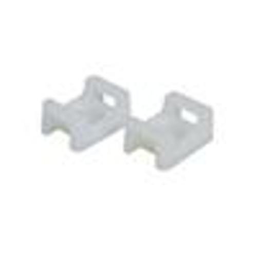 Nylon Cable Tie Mounts; 0.9; WHITE; 100PK (NWT-9003)