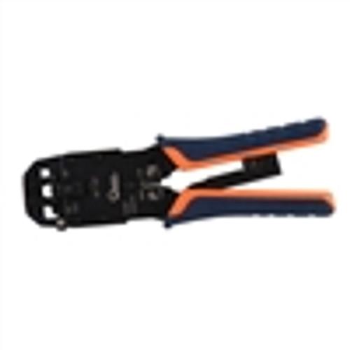 Crimp Tool; Premium Ratchet Style; for RJ11; 12; 45 & 10P10C Modular Plugs (TEL-6020)