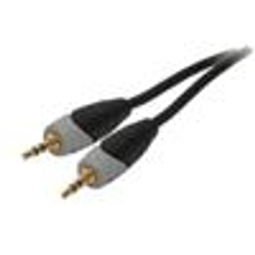 3.5(M-M) Single Stereo Cable; Dual Mold; Gray; 12FT (VCA-8112)