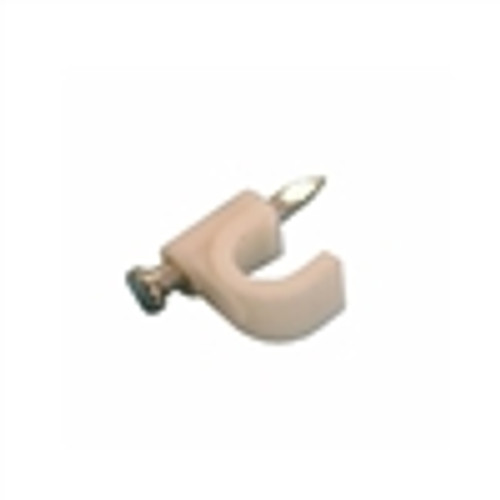 Cable Clip W / NAIL for Single RG59; White; 100PK (VCC-1101)