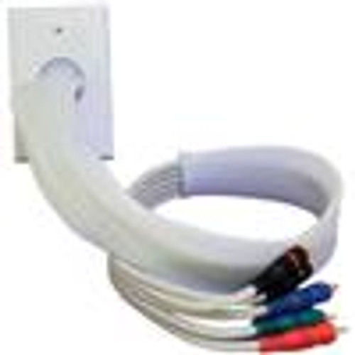 POWERBRIDGE WHITE WALL PLATE; WHITE CABLE SOCK; 2FT (VHT-6011)