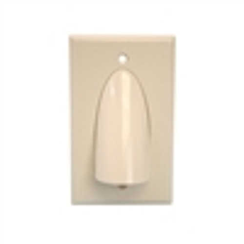 Wall Plate; Polished Single-Gang for Bulk Cable - Almond (VHT-8102)